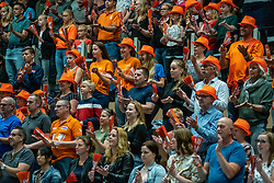 12-06-2019 NED: Golden League Netherlands - Estonia, Hoogeveen<br /> Fifth match poule B - The Netherlands win 3-0 from Estonia in the series of the group stage in the Golden European League / Support dutch Orange