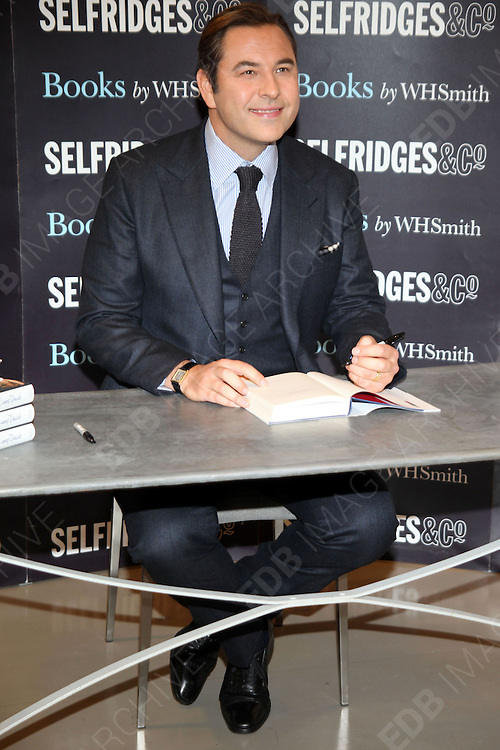12.OCTOBER.2012. LONDON<br /> <br /> DAVID WALLIAMS SIGNS COPIES OF HIS NEW BOOK 'CAMP DAVID' AT SELFRIDGES IN LONDON.<br /> <br /> BYLINE: EDBIMAGEARCHIVE.CO.UK<br /> <br /> *THIS IMAGE IS STRICTLY FOR UK NEWSPAPERS AND MAGAZINES ONLY*<br /> *FOR WORLD WIDE SALES AND WEB USE PLEASE CONTACT EDBIMAGEARCHIVE - 0208 954 5968*