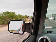 27 APRIL 2009 -- Vehicles approaching the US Border Patrol checkpoint on Interstate 19 north of Nogales, AZ. NOGALES, AZ: PHOTO BY JACK KURTZ