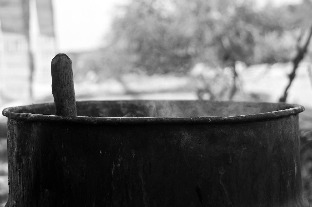 Olive processing- making olive soap, Ajloun, Jordan. 2012.