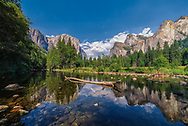 A beautiful shot of the valley floor in Yosemite National Park.<br />