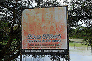 Thivanka Image House sign, Polonnaruwa ancient city site UNESCO, Sri Lanka, Asia