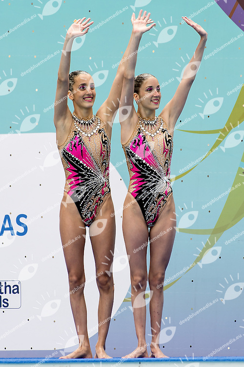 Austria 23 AUT - Austria ALEXANDRI Anna-maria ALEXANDRI Eirini<br /> Synchronised Swimming Olympic Games Qualification Tournament<br /> Maria Lenk Aquatic Centre - Rio De Janeiro Brazil<br /> Day1  02 March 2016<br /> Photo G.Scala/Insidefoto/Deepbluemedia