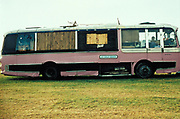 Hippie Coach, New age travellers bus, UK 1990's