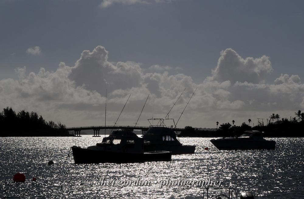 Boats moored in Mangrove Bay in Somerset Parish, Bermuda on Saturday morning, September 22, 2012.