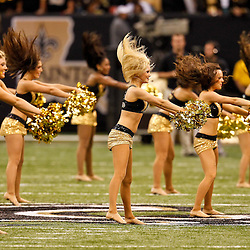 Oct 31, 2010; New Orleans, LA, USA; New Orleans Saints Saintsations cheerleaders perform during the first half at the Louisiana Superdome. Mandatory Credit: Derick E. Hingle-US PRESSWIRE