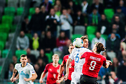 KRHIN Rene of Slovenia vs SABITZER Marcel of Austria during the 2020 UEFA European Championships group G qualifying match between Slovenia and Austria at SRC Stozice on October 13, 2019 in Ljubljana, Slovenia. Photo by Peter Podobnik / Sportida
