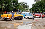 Taxis in San Andres, Holguin, Cuba.