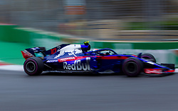 April 28, 2018 - Baku, Azerbaijan - Pierre Gasly of France and Toro Rosso driver goes during the qualifying session at Azerbaijan Formula 1 Grand Prix on Apr 28, 2018 in Baku, Azerbaijan. (Credit Image: © Robert Szaniszlo/NurPhoto via ZUMA Press)