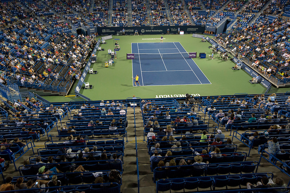 August 21, 2014, New Haven, CT:<br /> A general view of stadium court on day seven of the 2014 Connecticut Open at the Yale University Tennis Center in New Haven, Connecticut Thursday, August 21, 2014.<br /> (Photo by Billie Weiss/Connecticut Open)