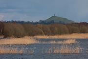 View east across Decoy Lake towards Glastonbury Tor