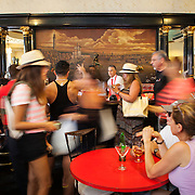 The history filled El Floridita, home to the famous daiquiri and frequented by Ernest Hemingway among other well known international and local celebrities. The bar is a must stop by visitors to Cuba, located in La Habana Vieja or Old Havana on the famous Calle Obispo.Photography by Jose More