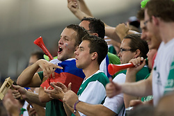 Slovenian fans during the EuroBasket 2009 Group F match between Slovenia and Turkey, on September 16, 2009 in Arena Lodz, Hala Sportowa, Lodz, Poland.  (Photo by Vid Ponikvar / Sportida)