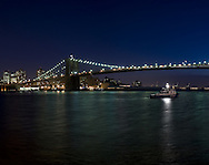 East River at night.
