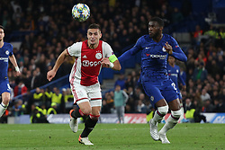 November 5, 2019: AMSTERDAM, NETHERLANDS - OCTOBER 22, 2019: Dusan Tadic (Ajax) and Fikayo Tomori (Chelsea FC)  pictured during the 2019/20 UEFA Champions League Group H game between Chelsea FC (England) and AFC Ajax (Netherlands) at Stamford Bridge. (Credit Image: © Federico Guerra Maranesi/ZUMA Wire)