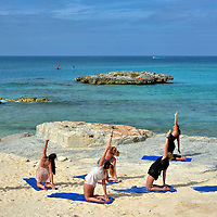 Yoga Session at Great Stirrup Cay, Bahamas<br />