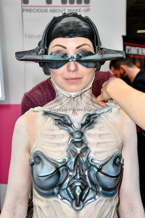 Precious About Make-UP demo at IMATS London on 18 May 2019,  London, UK.