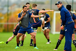 Kurtley Beale warms up - Ryan Hiscott/JMP - 08/11/2018 - RUGBY - Llanwern High School - Newport, Wales - Australia Rugby Training Session