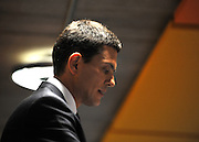 CENTRAL LONDON David Miliband makes a Labour leadership campaign speech at at The King Solomon Academy in London. The Labour leadership campaign is entering its final week with voting papers going out to Labour members.  25 August 2010. STEPHEN SIMPSON..