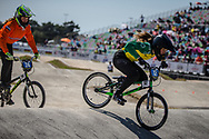13 Girls #12 (TAYLOR Sophie) AUS at the 2018 UCI BMX World Championships in Baku, Azerbaijan.