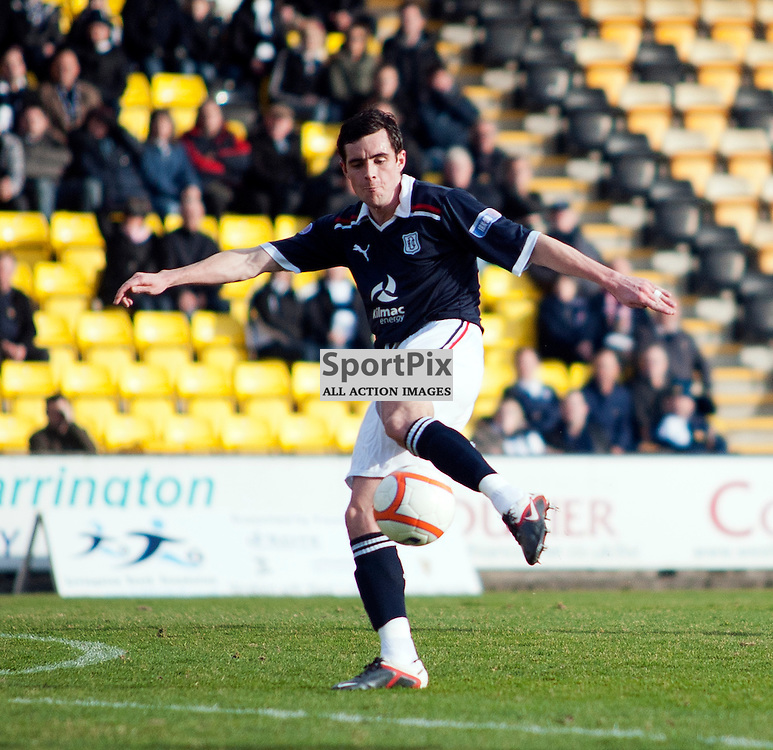 Livingston v Dundee, SFL Division 1 League Match, Falkirk Stadium, 03/03/12, Stephen O'Donnell hits a shot