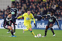 Jordan VERETOUT / Steed MALBRANQUE / Arnold MVUEMBA - 20.01.2015 - Nantes / Lyon  - Coupe de France 2014/2015<br />