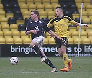 Dundee's Gary Irvine and Livingston's Marc McNulty - Livingston v Dundee - SPFL Championship at Almondvale <br />  - &copy; David Young - www.davidyoungphoto.co.uk - email: davidyoungphoto@gmail.com