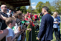 NEWTOWN, WALES - Sunday, May 6, 2018: Wales' manager Ryan Giggs speaks with supporters before the FAW Welsh Cup Final between Aberystwyth Town and Connahs Quay Nomads at Latham Park. (Pic by Paul Greenwood/Propaganda)