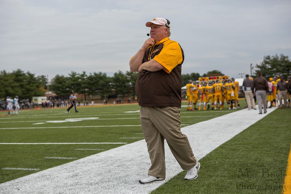 Rowan University Head Coach Jay Accorsi - Rowan University Football vs Wesley College at Richard Wacker Stadium in Glassboro, NJ on Saturday October 19, 2013. (photo / Mat Boyle)
