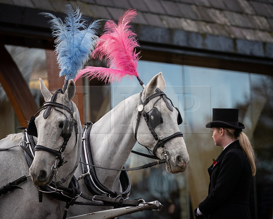 © Licensed to London News Pictures . 30/10/2018. Accrington , UK . The funeral of Gemma Nuttall at Accrington Crematorium . Gemma died of cancer despite initially seeing off the disease after radical immunotherapy treatment in Germany , paid for with the fundraising support of actress Kate Winslet , who read of Gemma's plight on a crowdfunding website shortly after she lost her own mother to cancer . Permission to photograph given by Gemma's mother , Helen Sproates . Photo credit : Joel Goodman/LNP