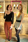 BLANAID KENNY; MORWENNA LYTTON-COBBOLD, Design Your Own Timberland breakfast and Autumn/ Winter 2011 preview. Timberland. 1 Fournier St. London. Followed by an art tour by Julia Royce. 8 June 2011. <br /> <br />  , -DO NOT ARCHIVE-© Copyright Photograph by Dafydd Jones. 248 Clapham Rd. London SW9 0PZ. Tel 0207 820 0771. www.dafjones.com.