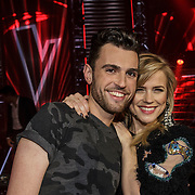 NLD/Hilversum/20141121- 2de Live The Voice of Holland, Duncan de Moor en Ilse de Lange