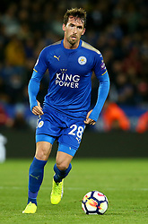 Christian Fuchs of Leicester City - Mandatory by-line: Robbie Stephenson/JMP - 16/10/2017 - FOOTBALL - King Power Stadium - Leicester, England - Leicester City v West Bromwich Albion - Premier League