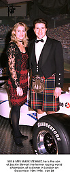 MR & MRS MARK STEWART, he is the son of Jackie Stewart the former racing world champion, at a dinner in London on December 10th 1996. LUK 28