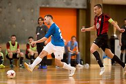 Anze Sirok of FC Litija during futsal match between FC Litija and FC Dobovec Pivovarna Kozel in Final of 1.SFL 2017/18, on May 18, 2018 in Sports hall Litija, Litija, Slovenia. Photo by Urban Urbanc / Sportida