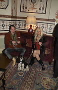 Ray Rough, ( Peggy Sue - dog) and Marilyn Coleman of the Virginia Creepers Club. Philip Sallon and Bruce Fielding Joint birthday party. Home House. London. 12  November 2005 . ONE TIME USE ONLY - DO NOT ARCHIVE © Copyright Photograph by Dafydd Jones 66 Stockwell Park Rd. London SW9 0DA Tel 020 7733 0108 www.dafjones.com