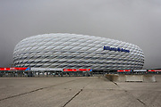 General stadium view outside the Allianz Arena before the Champions League match between Bayern Munich and Liverpool at the Allianz Arena, Munich, Germany, on 13 March 2019.