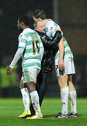 Yeovil Town Manager, Gary Johnson hugs Yeovil Town's Tom Eaves - Photo mandatory by-line: Dougie Allward/JMP - Mobile: 07966 386802 - 16/12/2014 - SPORT - football - Yeovil - Huish Park - Yeovil Town v Accrington Stanley - FA Cup