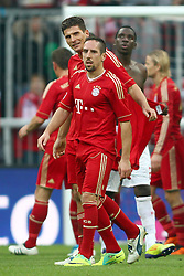 29.10.2011, Allianz Arena, Muenchen, GER, 1.FBL,  FC Bayern Muenchen vs 1. FC Nuernberg, im Bild  Mario Gomez (Bayern #33) mit Franck Ribery (Bayern #7) nach dem Spiel// during the match FC Bayern Muenchen vs 1. FC Nuernberg, on 2011/10/29, Allianz Arena, Munich, Germany, EXPA Pictures © 2011, PhotoCredit: EXPA/ nph/  Straubmeier       ****** out of GER / CRO  / BEL ******