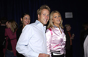 Ben Fogle and Kinvara Balfour. Julian Macdonald fashion show. Science Museum. London. 20 September 2001. © Copyright Photograph by Dafydd Jones 66 Stockwell Park Rd. London SW9 0DA Tel 020 7733 0108 www.dafjones.com