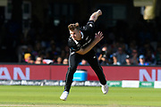 Jimmy Neesham of New Zealand bowling during the ICC Cricket World Cup 2019 Final match between New Zealand and England at Lord's Cricket Ground, St John's Wood, United Kingdom on 14 July 2019.