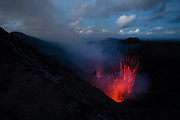 Yasur volcano on Tanna Island is famous for its Strombolian eruptions, it is said that Captain Cook used the glow of Yasur for navigaion in the South Pacific.