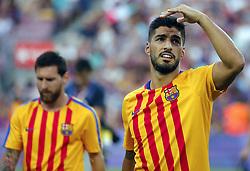 August 7, 2017 - Barcelona, Spain - Luis Suarez during the friendy Joan Gamper trophy match between F.C. Barcelona v Chapecoense, in Barcelona, on August 07, 2017. Photo: JoanValls/Urbanandsport/Nurphoto  (Credit Image: © Urbanandsport/NurPhoto via ZUMA Press)
