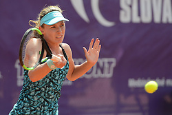 May 19, 2018 - Trnava, Slovakia - EKATERINA ALEXANDROVA of Russia in her semifinal match in the Empire Slovak Open tennis tournament in Trnava Slovakia (Credit Image: © Christopher Levy via ZUMA Wire)