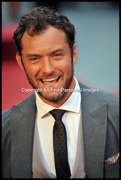 Jude Law arrives for the - UK film premiere of Anna Karenina, London, Tuesday September 4, 2012 Photo Andrew Parsons/i-Images..All Rights Reserved &copy;Andrew Parsons/i-Images<br /> File photo - Jude Law NOTW Hacking.<br /> Jude Law is told relative sold story of girlfriend Sienna Miller's affair with Daniel Craig. Picture filed Tuesday, 28th January 2014.