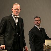 Waste by Harley Granvelle Barker;<br /> Directed by Roger Michell;<br /> Andrew Havill as Sir Gilbert Wedgecroft;<br /> Stephen Rashbrook as Edmunds;<br /> Lyttelton Theatre, National Theatre, London, UK;<br /> 9 November 2015