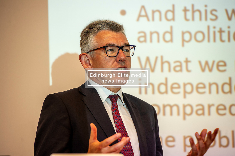 Pictured: Angus Armstrong<br />Gordon Brown addressed thenew Scottish think tank seminar today.  He was joined by Shadow Scottish secretary Lesley Laird and Scottish Labour leader Richard Leonard who also spoke at the inaugural meeting of Our Scottish Future<br /><br />Ger Harley   EEm 30 August 2019