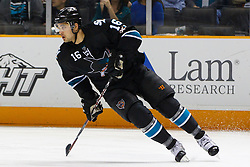 April 4, 2011; San Jose, CA, USA;  San Jose Sharks right wing Devin Setoguchi (16) skates up ice against the Los Angeles Kings during the first period at HP Pavilion. San Jose defeated Los Angeles 6-1. Mandatory Credit: Jason O. Watson / US PRESSWIRE