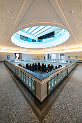 New reopened Aberdeen Art Gallery after refurbishment to add new floor in Aberdeen, Scotland, UK