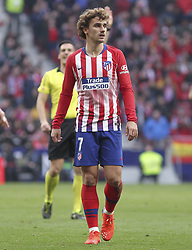 February 9, 2019 - Madrid, Madrid, Spain - Griezmann of Atletico de Madrid in action during La Liga Spanish championship, , football match between Atletico de Madrid and Real Madrid, February 09th, in Wanda Metropolitano Stadium in Madrid, Spain. (Credit Image: © AFP7 via ZUMA Wire)